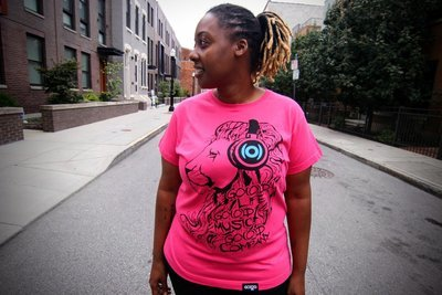 GO(O)D Lion tee-hot pink
