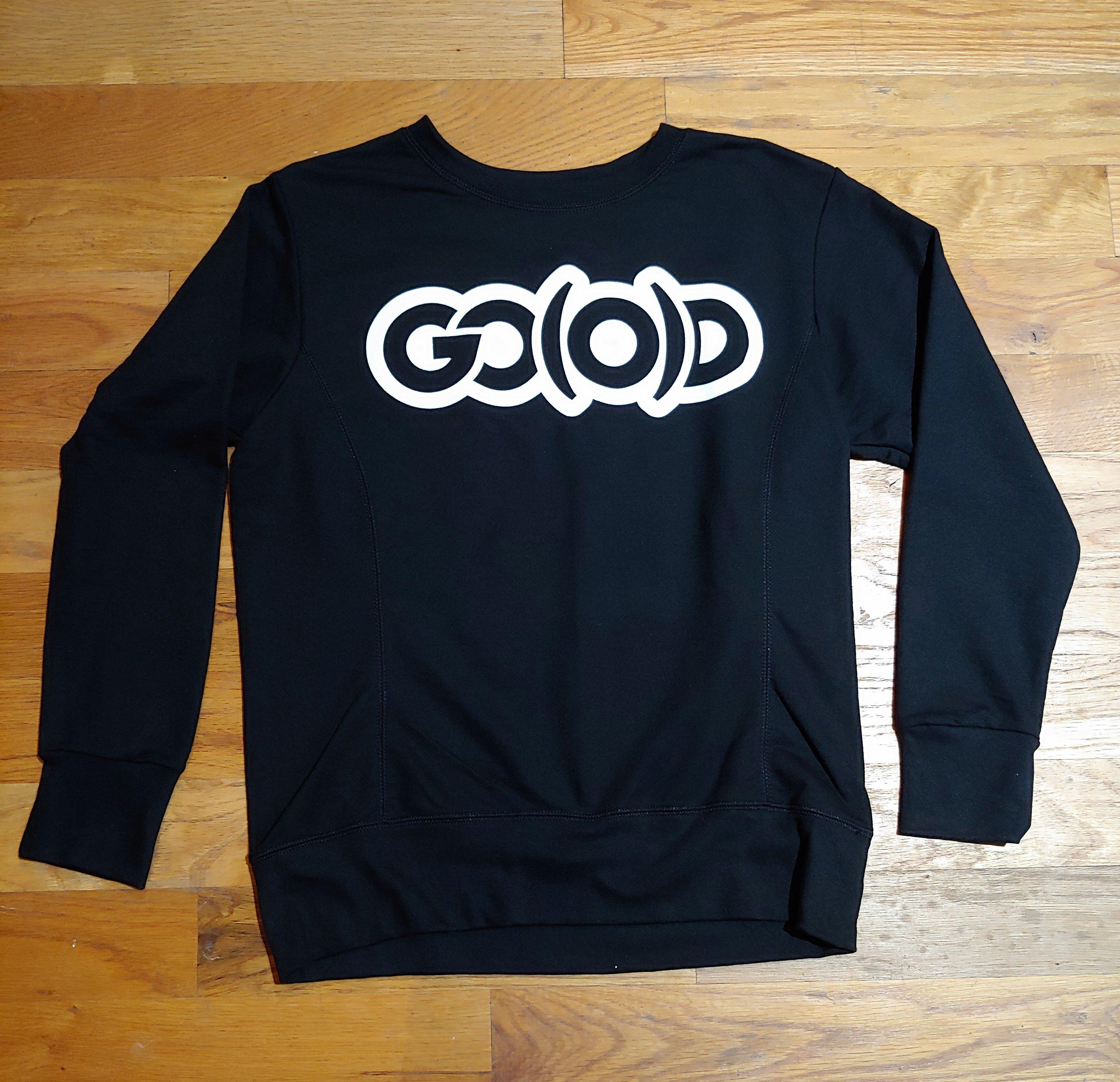 Women's GO(O)D Sweatshirt-Black/white 00184