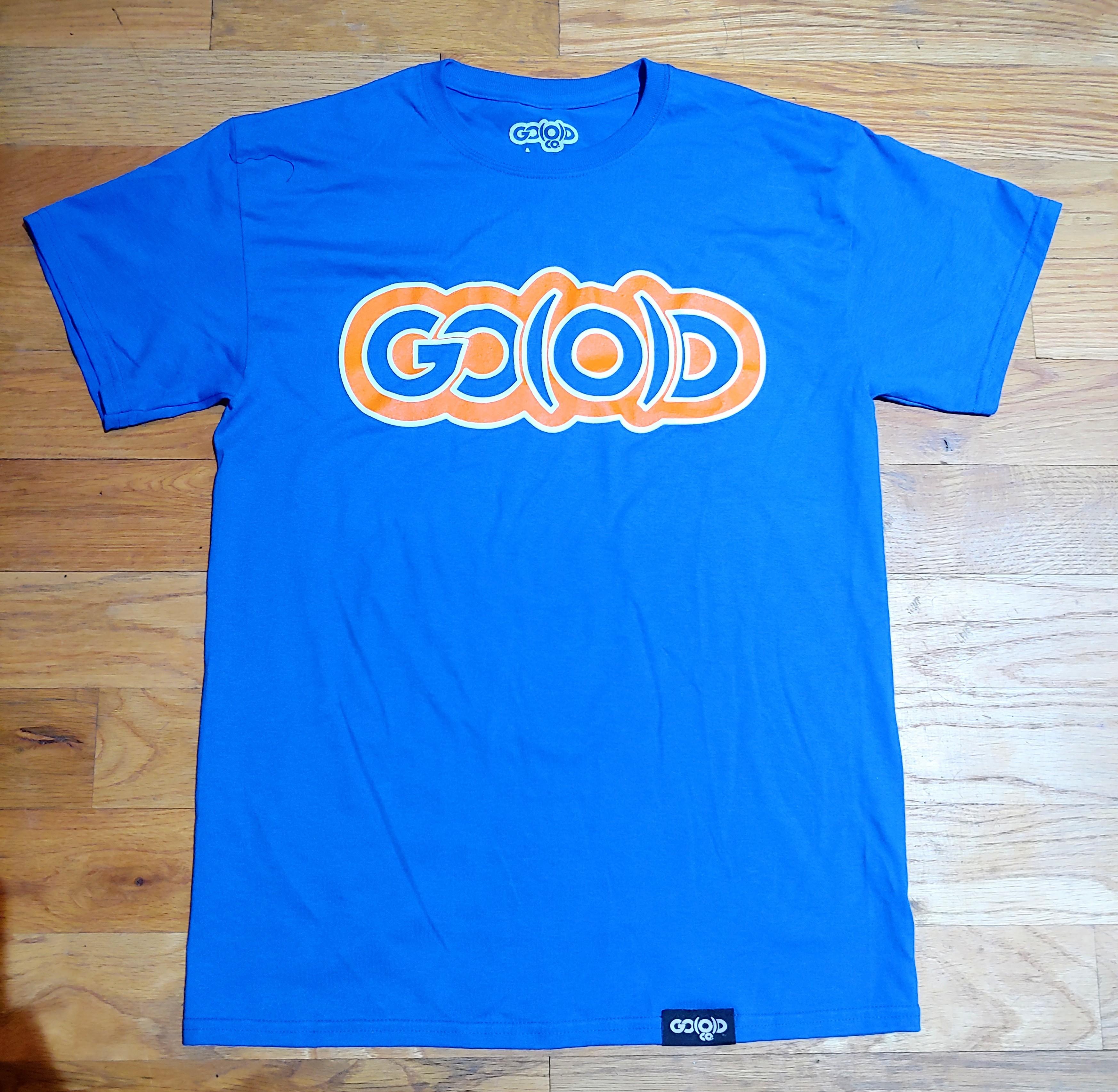 GO(O)D Trim Logo tee-royal/orange/white 00185