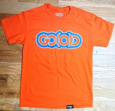 GO(O)D Classic Outline tee-orange/royal/white