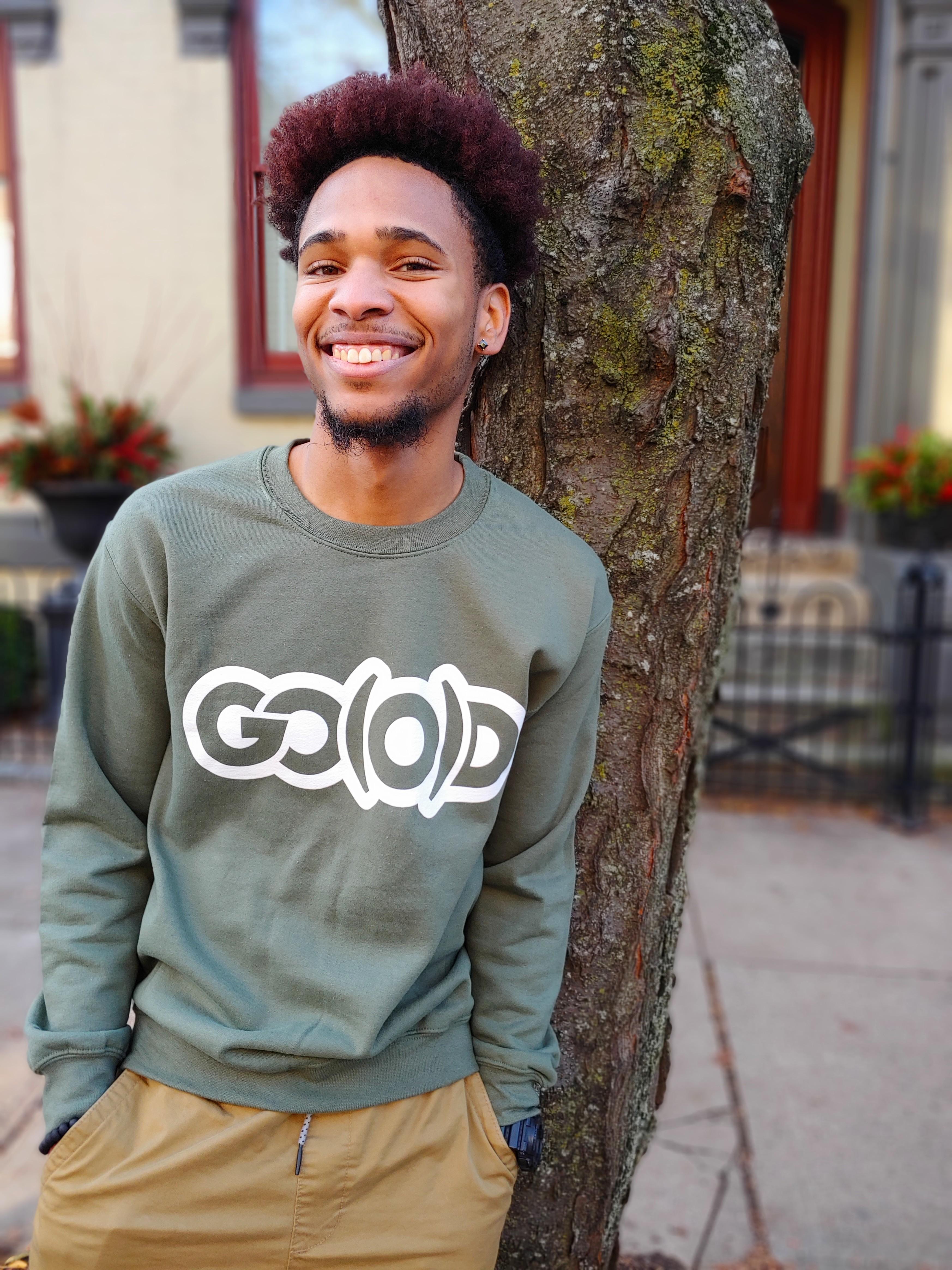 GO(O)D Sweatshirt-military green 00188