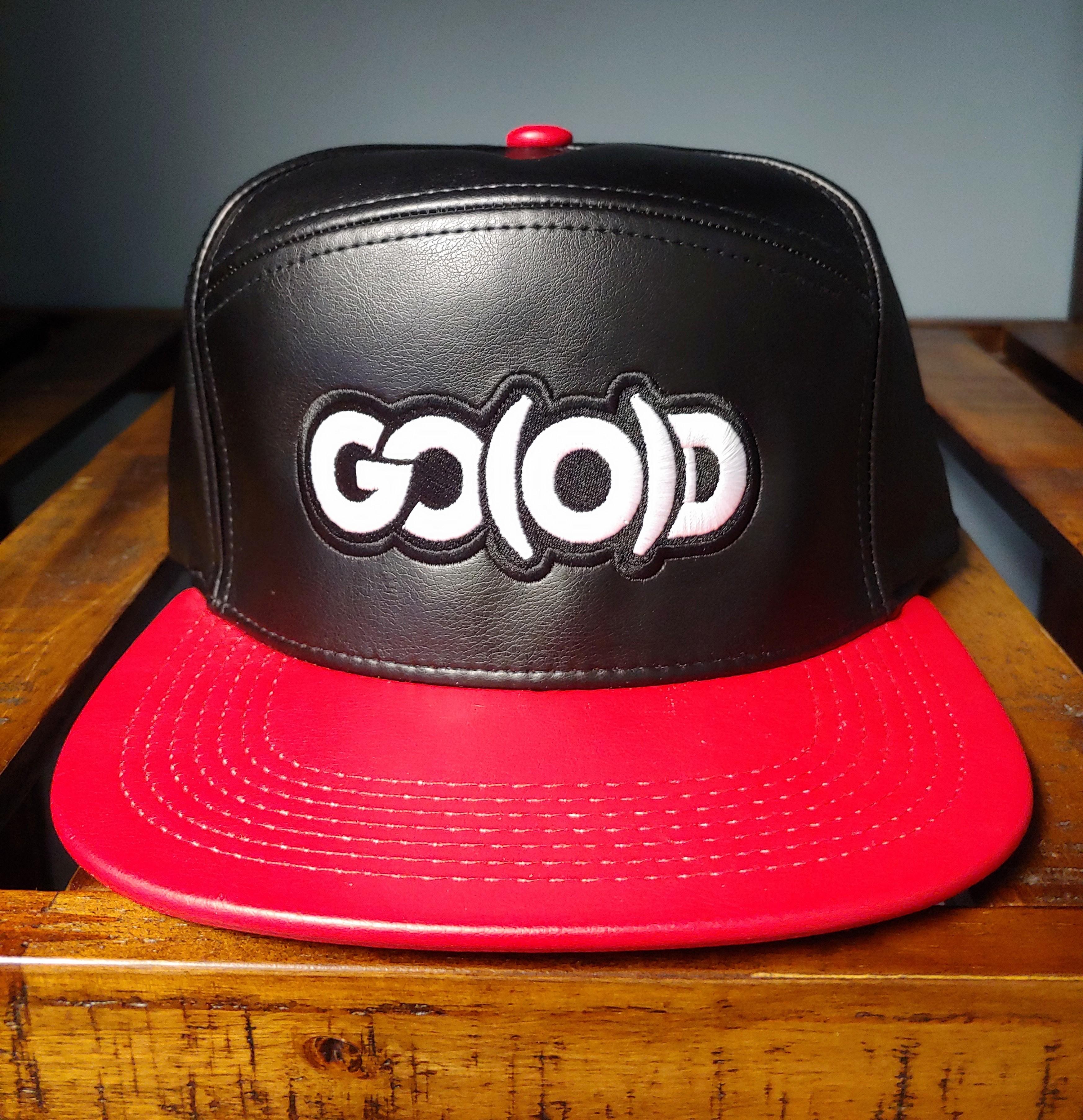 GO(O)D Hybrid Leather Strapback-black/red 00194