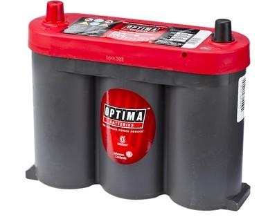 OPTIMA AGM Red Top 6V 50AH 815CCA (254x83x200mm) +Midtstilt 8010-355