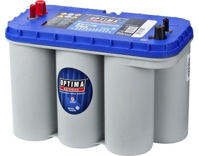 OPTIMA AGM Blue Top 12V 75AH 975CCA (325x165x238mm) +venstre 8052-188