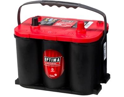 OPTIMA AGM Red Top 12V 50AH 815CCA (254x174x195mm) +høyre 8003-251