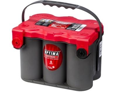 OPTIMA AGM Red Top 12V 50AH 815CCA (254x185x184mm) +venstre 8078-209