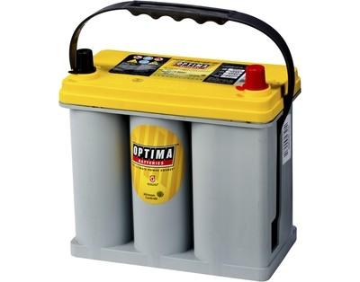 OPTIMA AGM Yellow Top 12V 38AH 460CCA (237x129x227mm) +høyre 8073-176