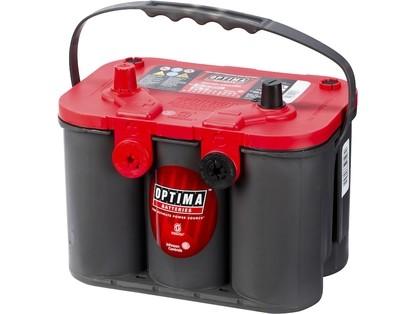 OPTIMA AGM Red Top 12V 50AH 815CCA (254x174x195mm) +venstre TOPP+SIDEPOL