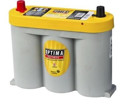 OPTIMA AGM Yellow Top 6V 55AH 765CCA (254x90x203mm) +Midstilt 8018-356