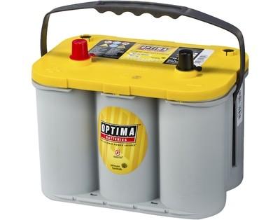 OPTIMA AGM Yellow Top 12V 55AH 690CCA (244x174x195mm) +venstre 8012-254