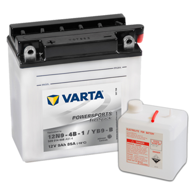 VARTA MC Batteri 12V 9AH 85CCA (136x76x134mm) +venstre YB9-B