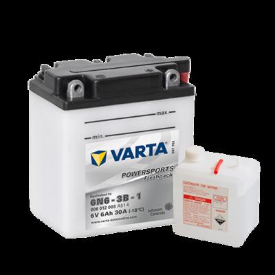 VARTA MC Batteri 6V 6AH 30CCA (100x57x110mm) +høyre 6N6-3B-1
