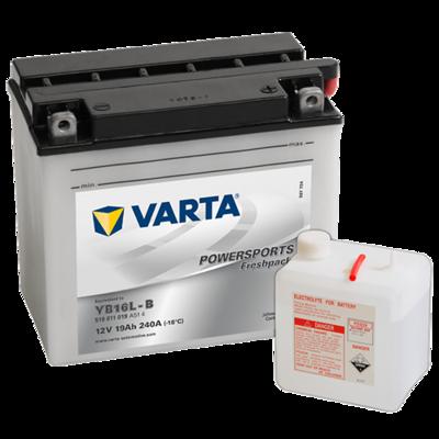VARTA MC Batteri 12V 19AH 240CCA (176x101x156mm) +høyre YB16L-B