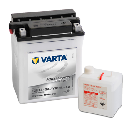 VARTA MC Batteri 12V 14AH 190CCA (135x90x167mm) +høyre YB14L-A2