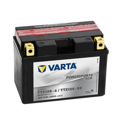 VARTA AGM MC Batteri 12V 9AH 200CCA (150x87x110mm) +venstre TTZ12S-BS