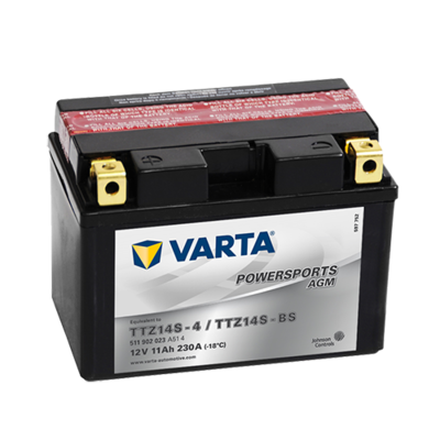 VARTA AGM MC Batteri 12V 11AH 230CCA (150x87x110mm) +venstre TTZ14S-BS