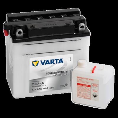 VARTA MC Batteri 12V 8AH 110CCA (137x76x134mm) +venstre YB7-A