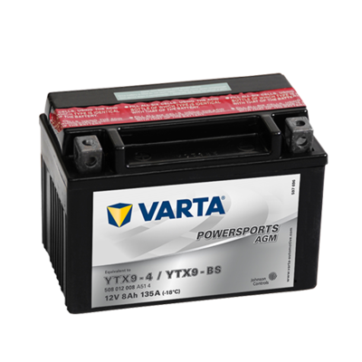 VARTA MC Batteri 12V 8AH 135CCA (152x88x106mm) +venstre YTX9-BS