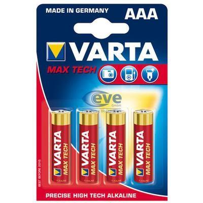 VARTA Max Tech AAA 1,5V 4-pakning
