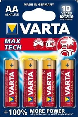 VARTA Max Tech AA 1,5V 4-pakning