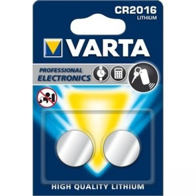 VARTA Lithium CR2016 3V 2-Pakning
