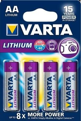 VARTA Lithium AA 1,5V 4-pakning
