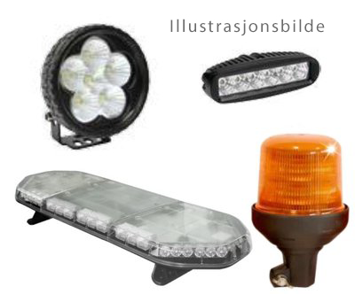 VARSELLYS 6W LED BLÅTT FOR TRUCK