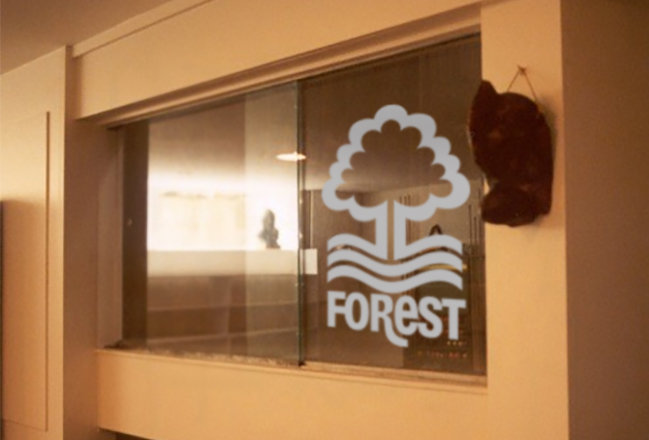 frosted window nottingham forest sticker