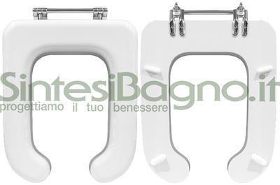 Sedile Wc Disabili Ideal Standard.Copriwater Sedile Wc Per Vaso Globo Serie Misura Colore Bianco