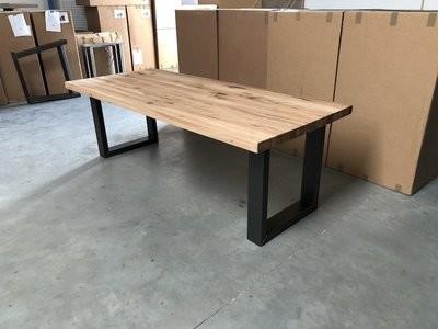 Massief eiken tafel u poot satz von 4 stühle