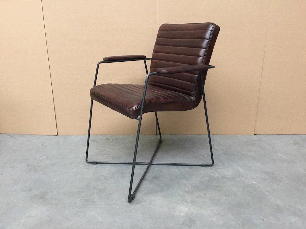 Industriële Eetkamerstoelen 106N Vintage Leer Bruin