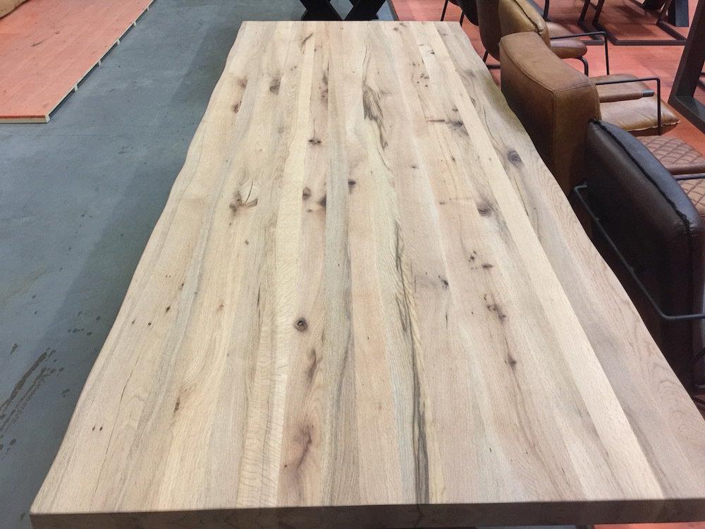 Tafel Van Boomstam : Massief eiken boomstam tafelblad 6 cm satz von 4 stühle