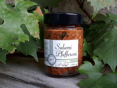 Salami Pfefferoni Pesto