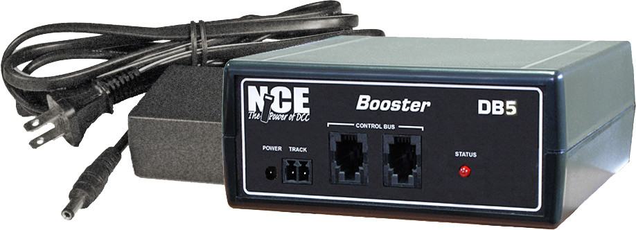 NCE New 2019 DB5 Add-On 5 Amp Booster With Power Supply For SB5  ~ 5240028
