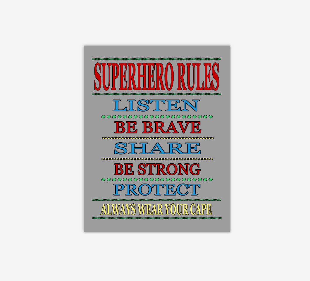 Super Hero Wall Art Boy Bedroom Decor Canvas Prints Baby Boy Nursery