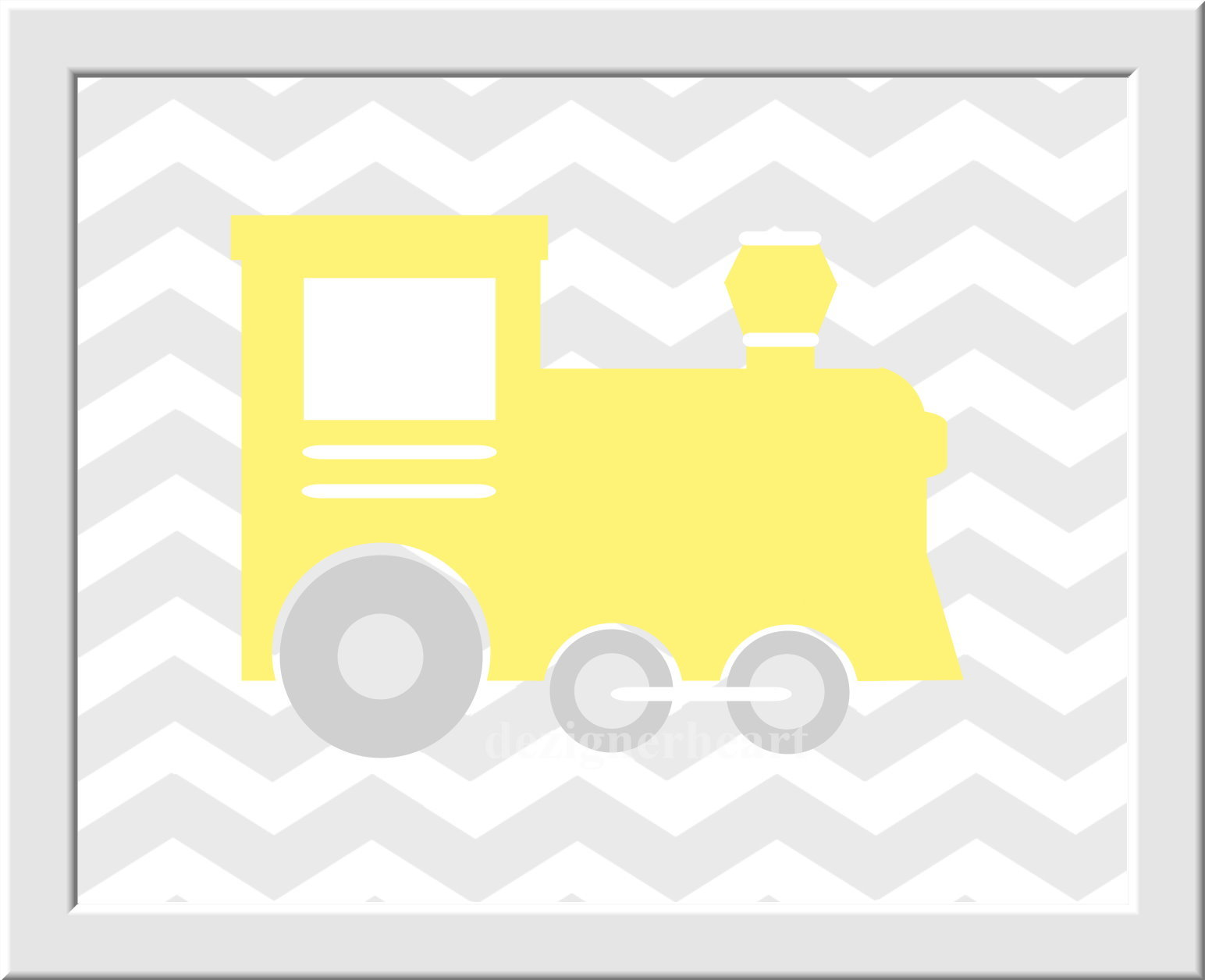 Baby Boy Nursery Wall Art Gray Yellow Grey Train Plane Airplane Car ...
