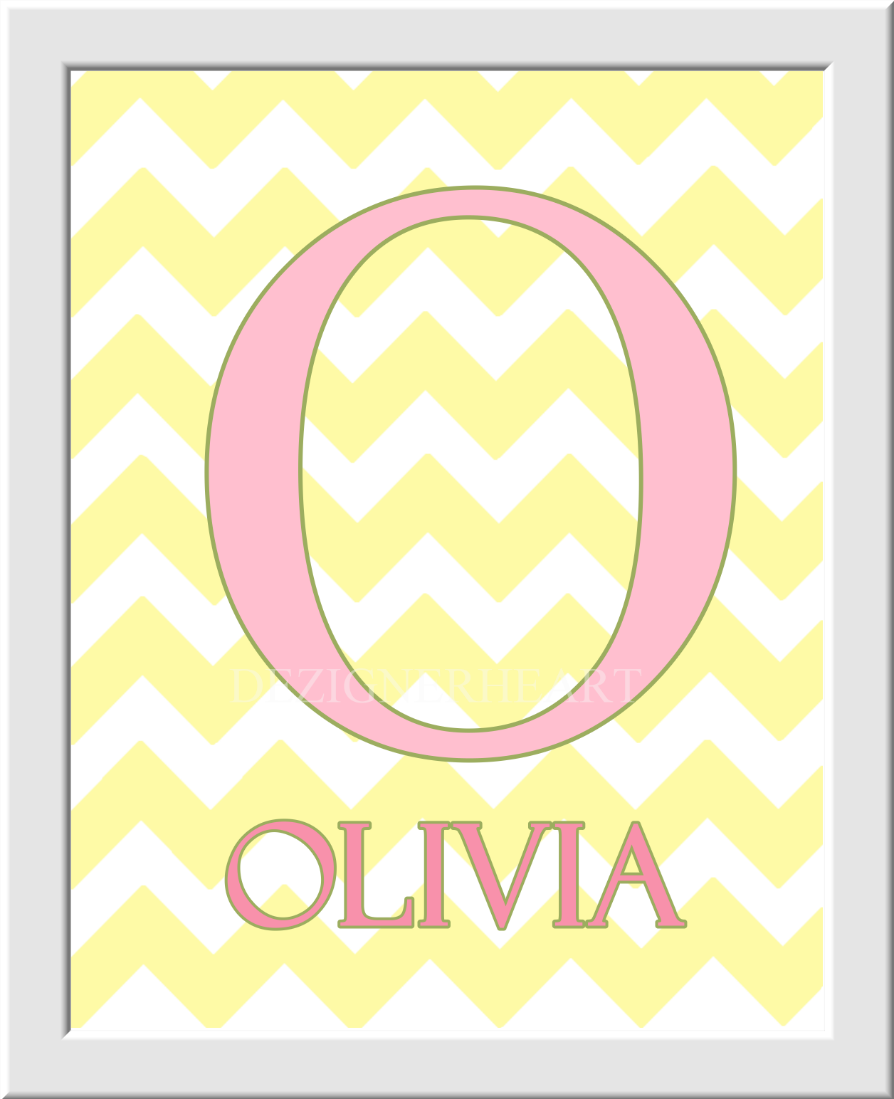 Personalized Baby Nursery Wall Art Owls Monogram Name LOVE Pink ...