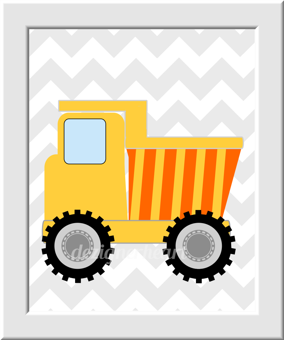 Personalized Baby Boy Nursery Decor Construction Trucks Name ...