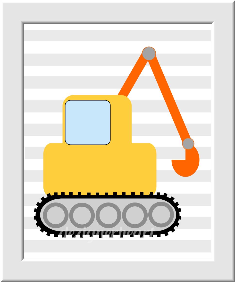 Personalized Baby Boy Nursery Decor Construction Trucks Name ...