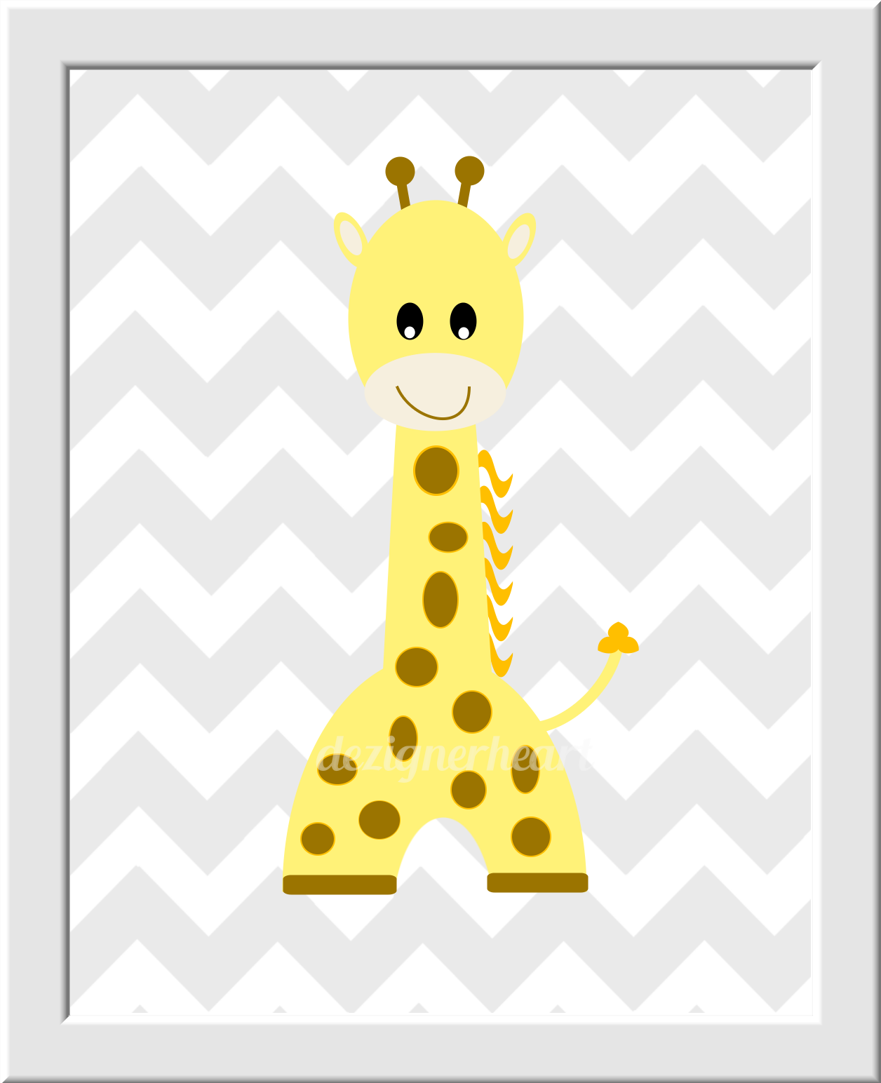 Colorful Giraffe Wall Art For Nursery Sketch - The Wall Art ...