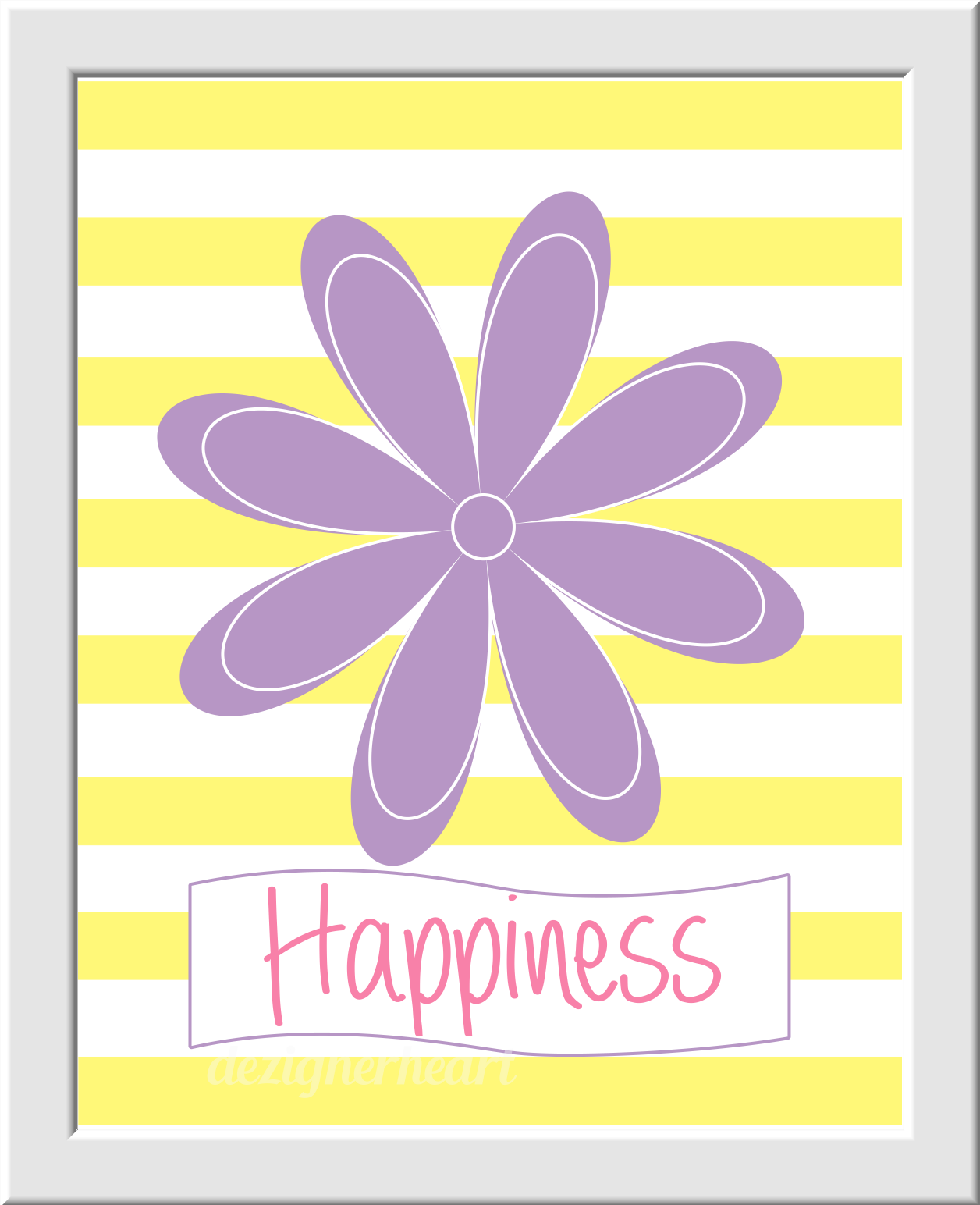 PINK Girls Room Wall Art Baby Nursery Decor Peace Love Happiness ...