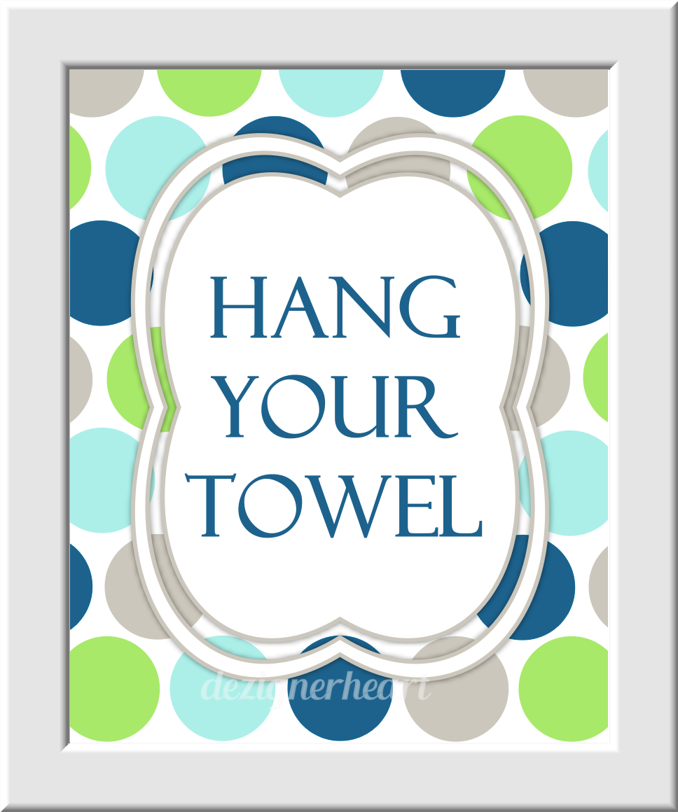 Kids Bath Wall Art Aqua Navy Blue Green Gray Wash Your Hands Brush Your Teeth Hang Your Towel Bathroom Rules Prints Bath Wall Prints Children's Bath Home Decor Bath Art SET OF 3 UNFRAMED PRINTS