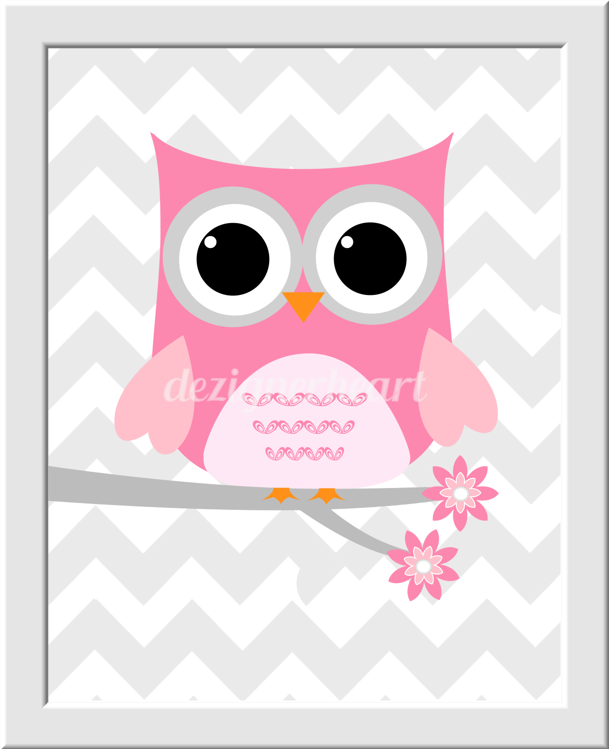 Pink Owl Baby Room Decor