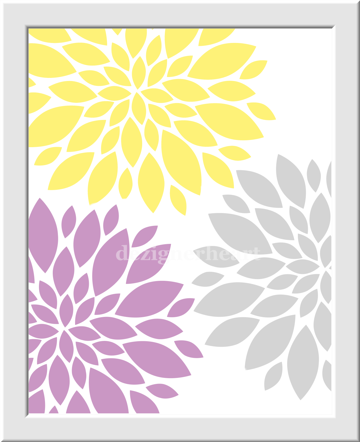 Baby Girl Nursery Wall Art Yellow Purple Lavender Girl Room Wall ...
