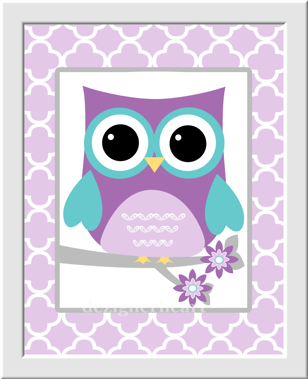 Owl Girl Nursery Art Purple Teal Lavender LOVE Print Baby Girl Nursery Decor  Owl Wall Decor ...