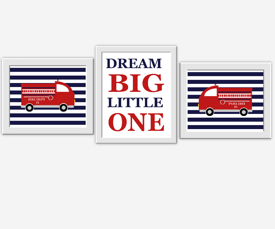 Baby Boy Nursery Wall Art Dream Big Little One Red Navy Blue You are Braver Baby Boy Decor Boys Room Wall Art Playroom Art Toddler Boy Decor Art Baby Nursery Decor