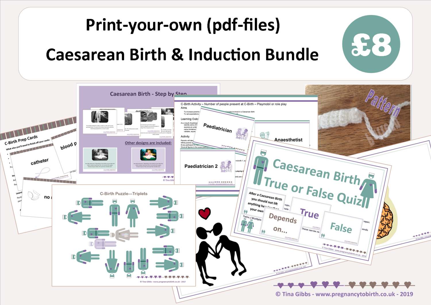 Caesarean Birth & Induction Bundle (zip file containing pdf files)
