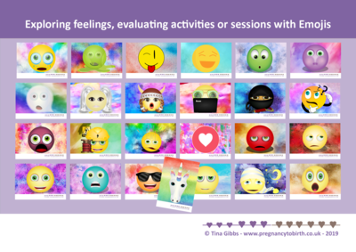 Emoji to explore feelings and evaluate - Print-your-own pdf card set