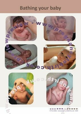 Bathing your baby - A2 poster