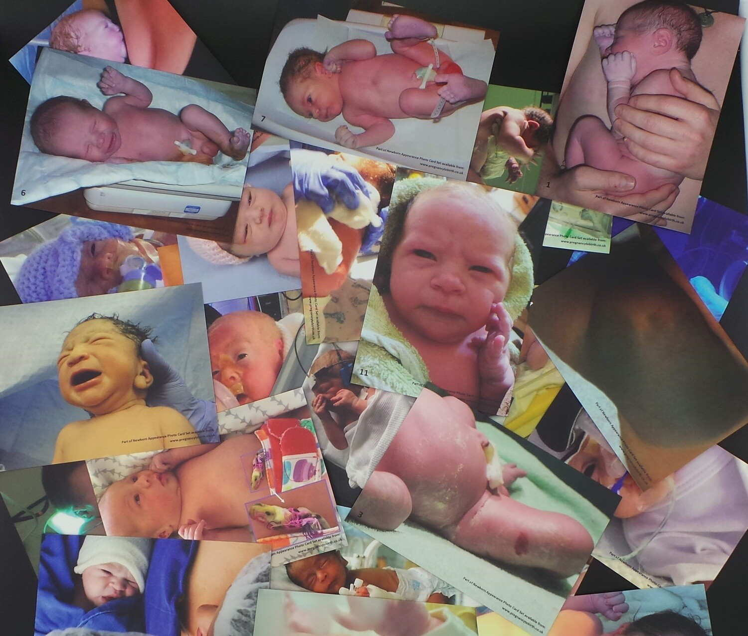Newborn Appearance photo card set - 330gsm cards